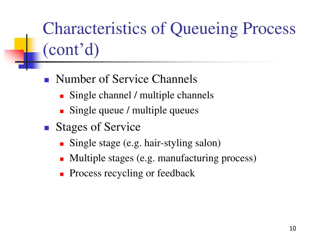 Characteristics of Queueing Process (cont'd)