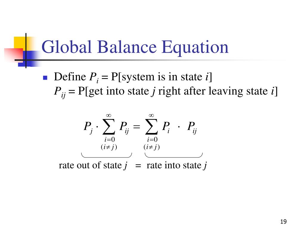 Global Balance Equation