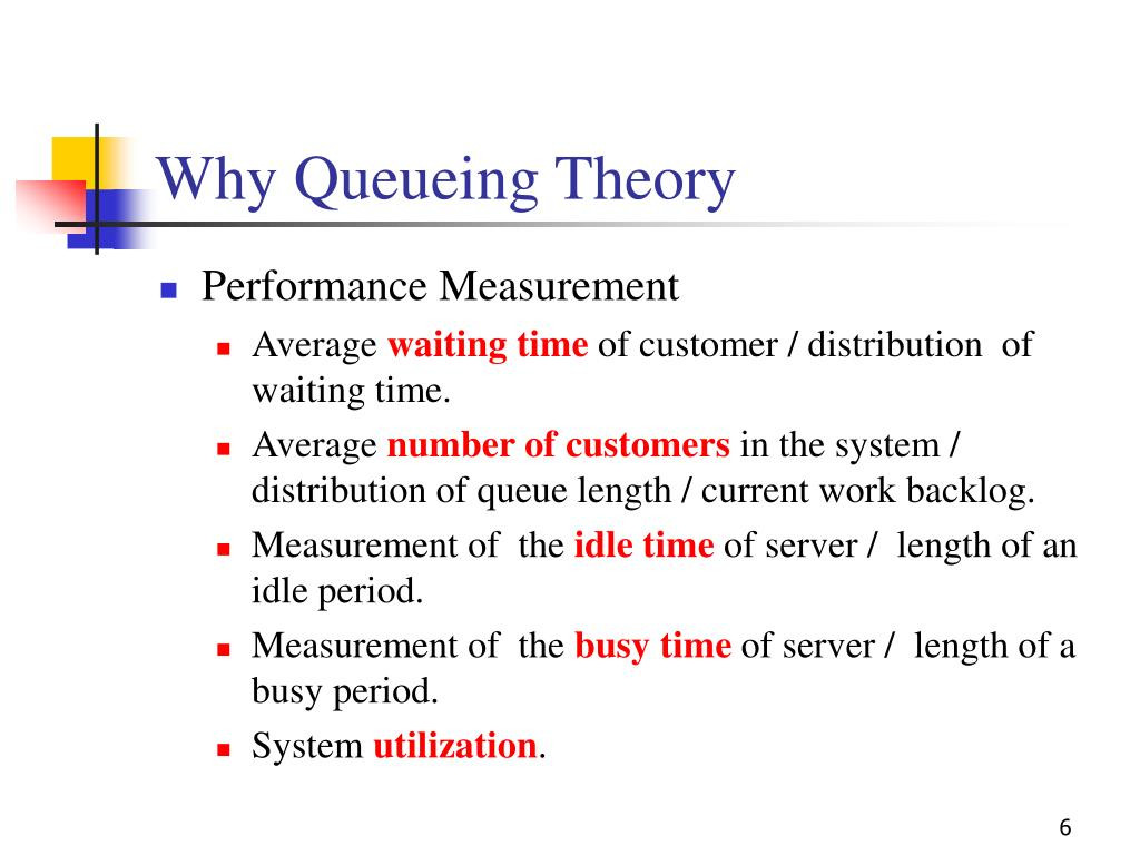 Why Queueing Theory