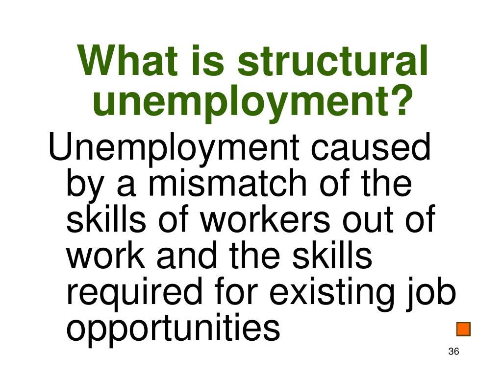 What is structural unemployment?