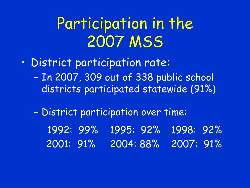 Participation in the