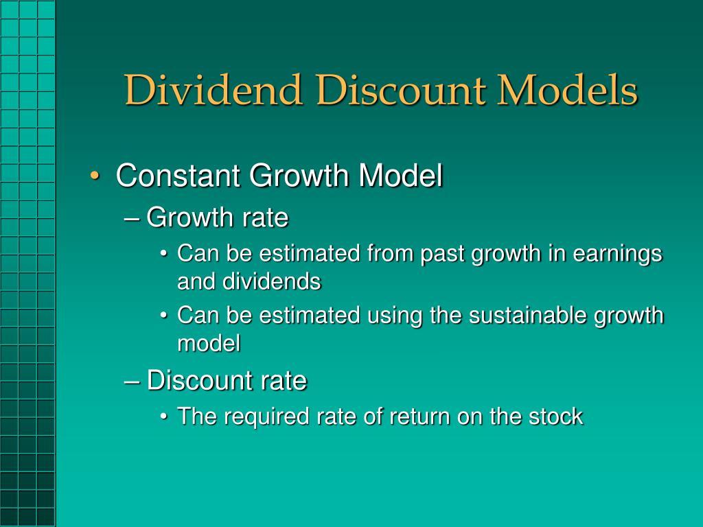 Dividend Discount Models