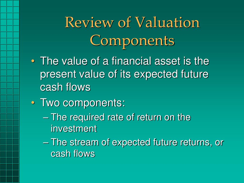 Review of Valuation Components