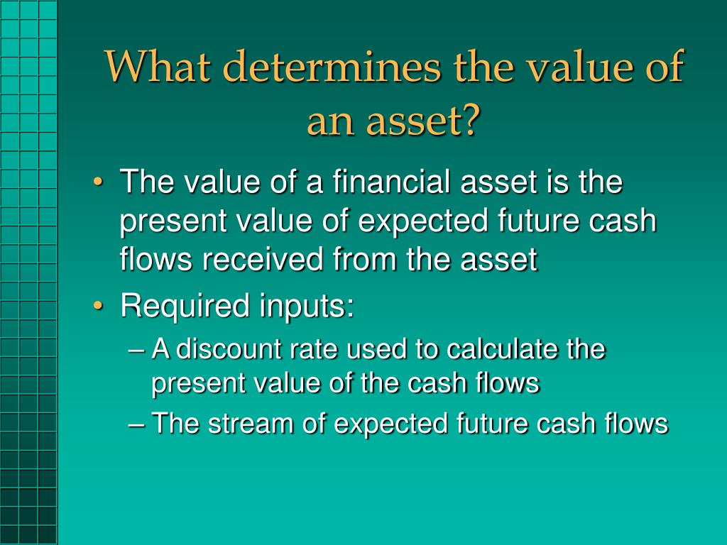 What determines the value of an asset?
