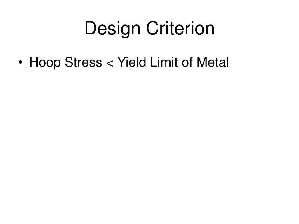 Design Criterion