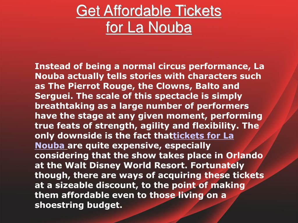 Get Affordable Tickets