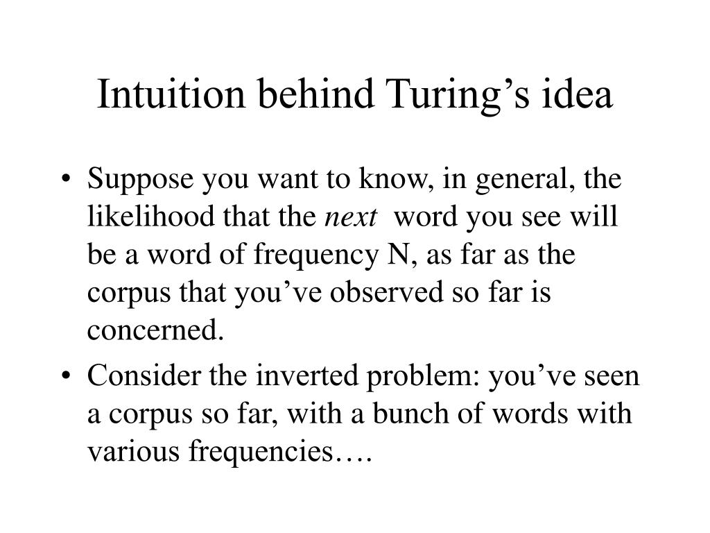Intuition behind Turing's idea