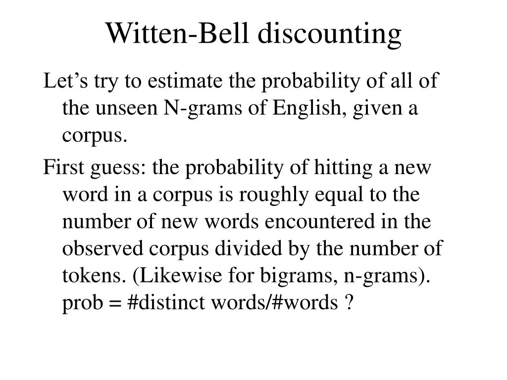 Witten-Bell discounting
