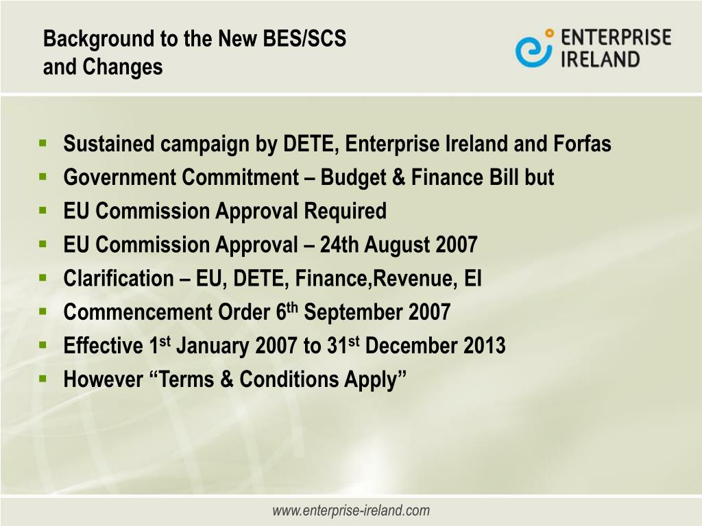 Background to the New BES/SCS