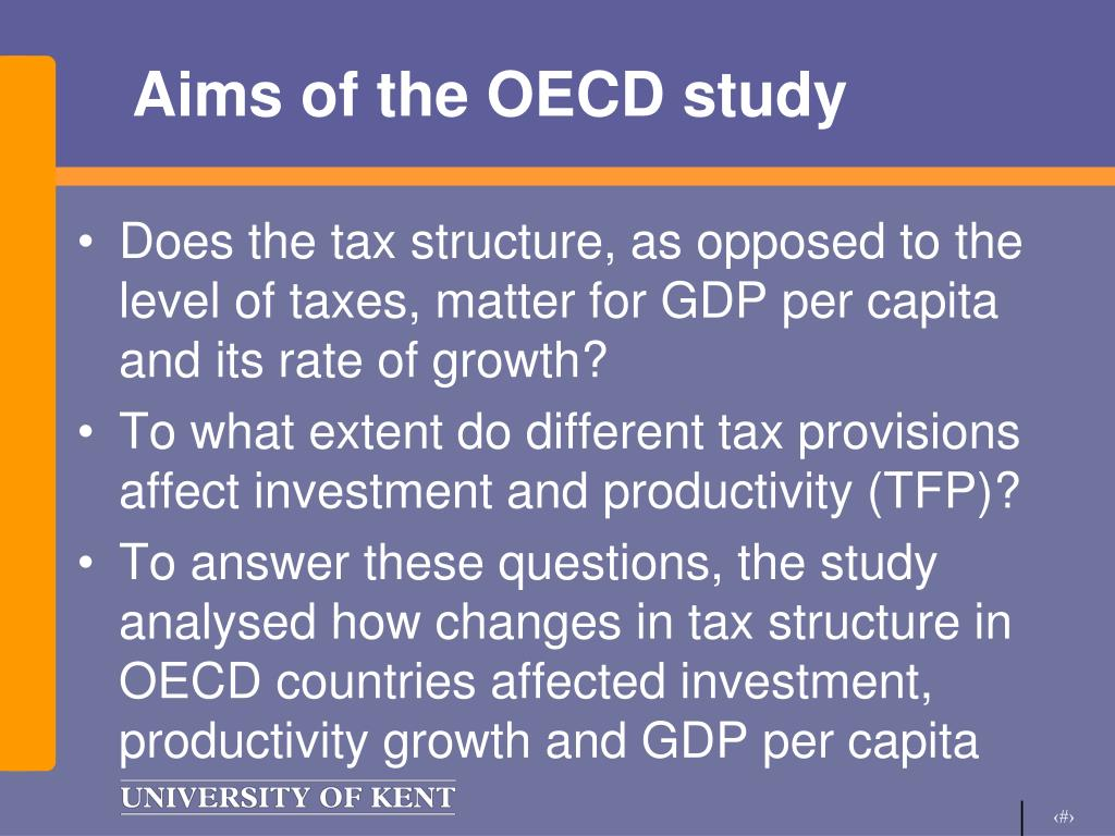 Aims of the OECD study