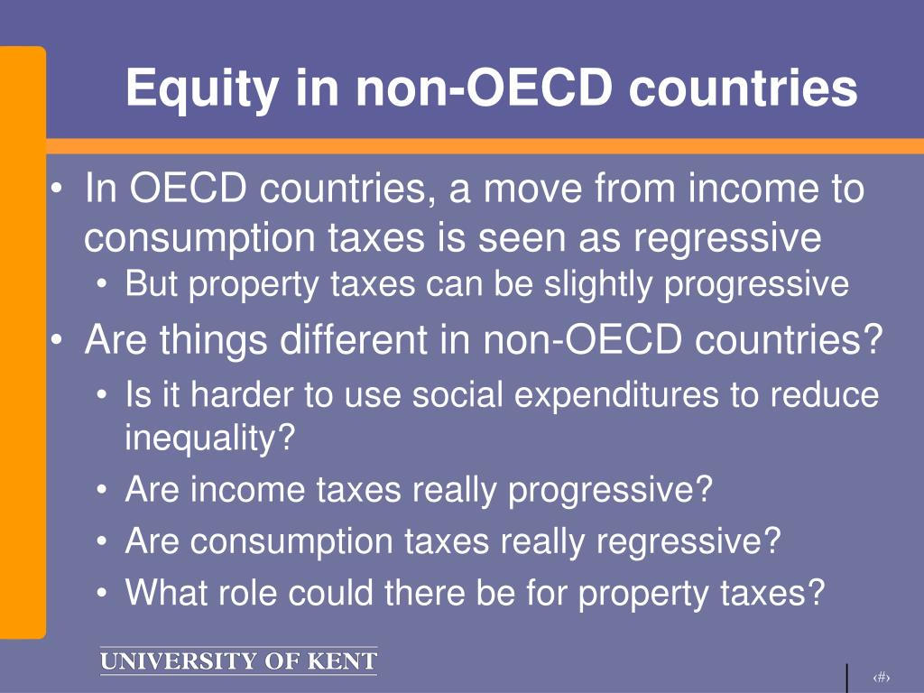 Equity in non-OECD countries