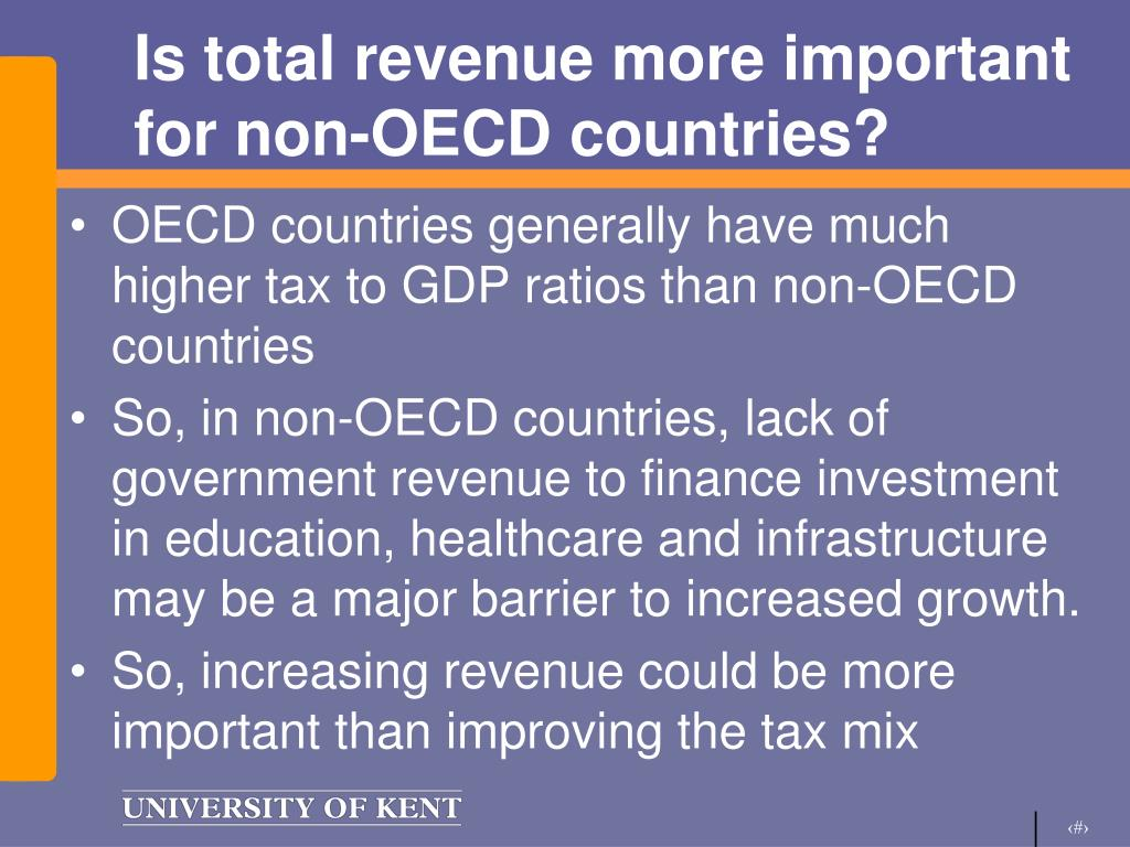 Is total revenue more important for non-OECD countries?