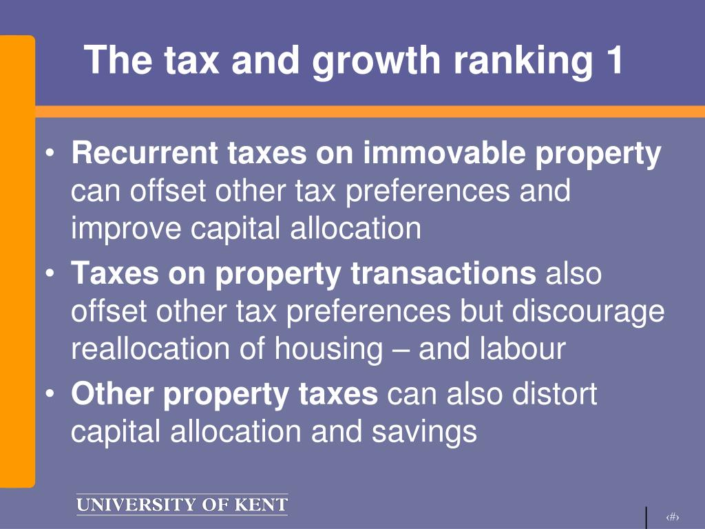 The tax and growth ranking 1
