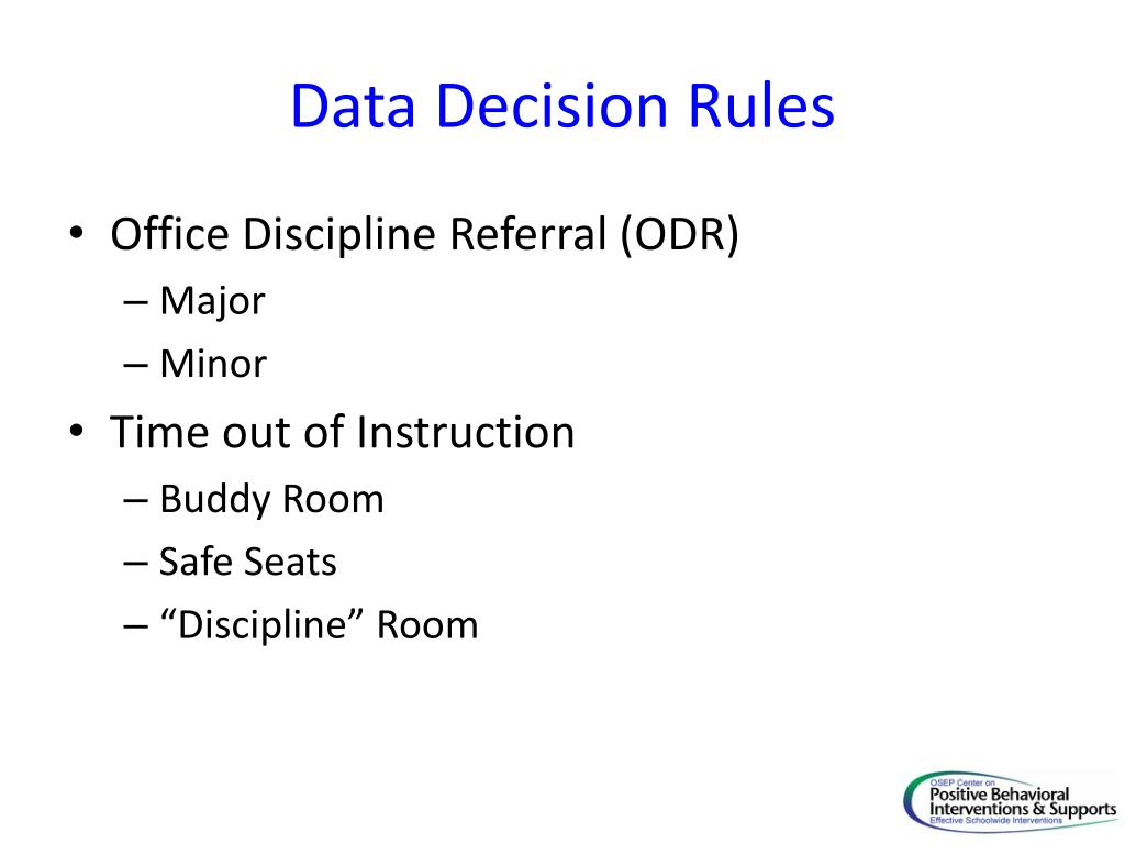 Data Decision Rules
