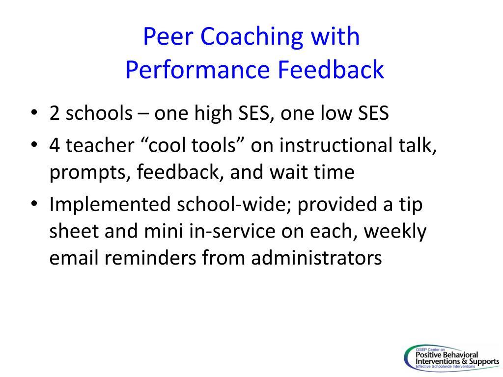 Peer Coaching with
