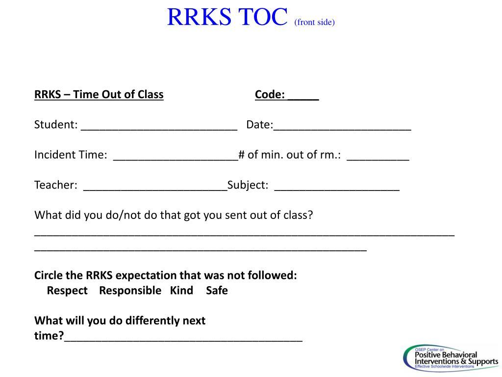 RRKS TOC