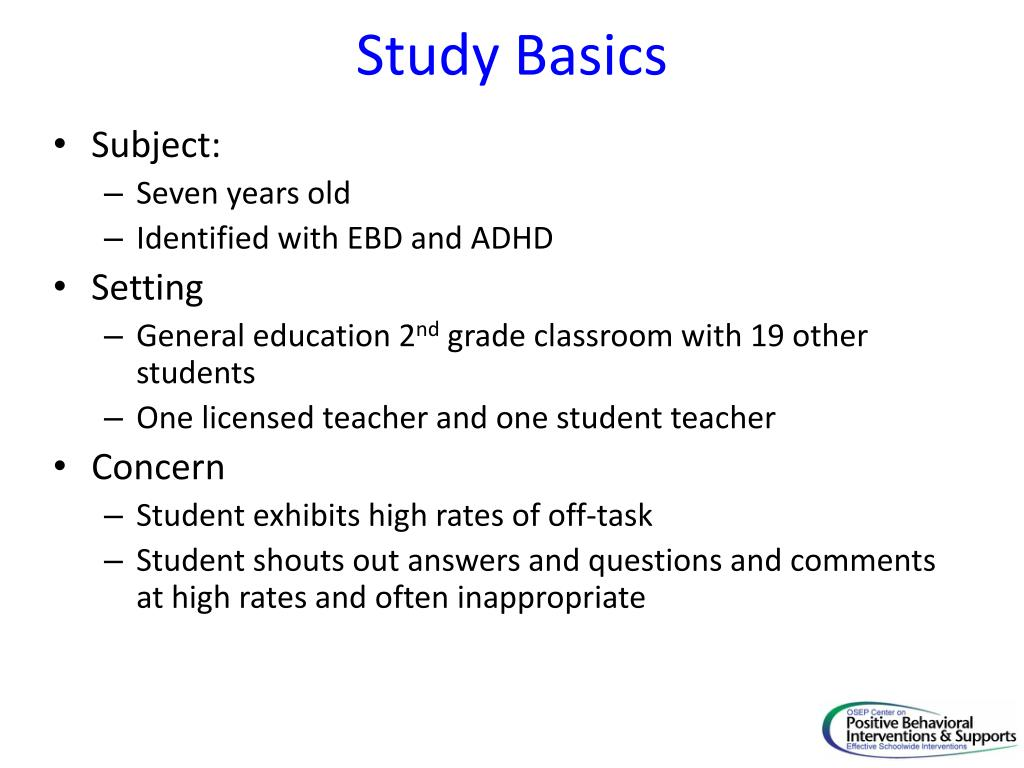Study Basics