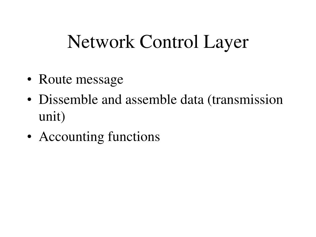 Network Control Layer