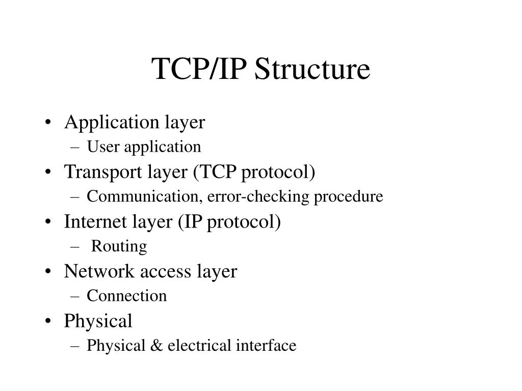 TCP/IP Structure