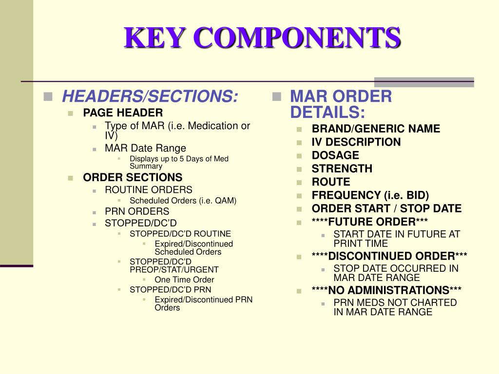 HEADERS/SECTIONS: