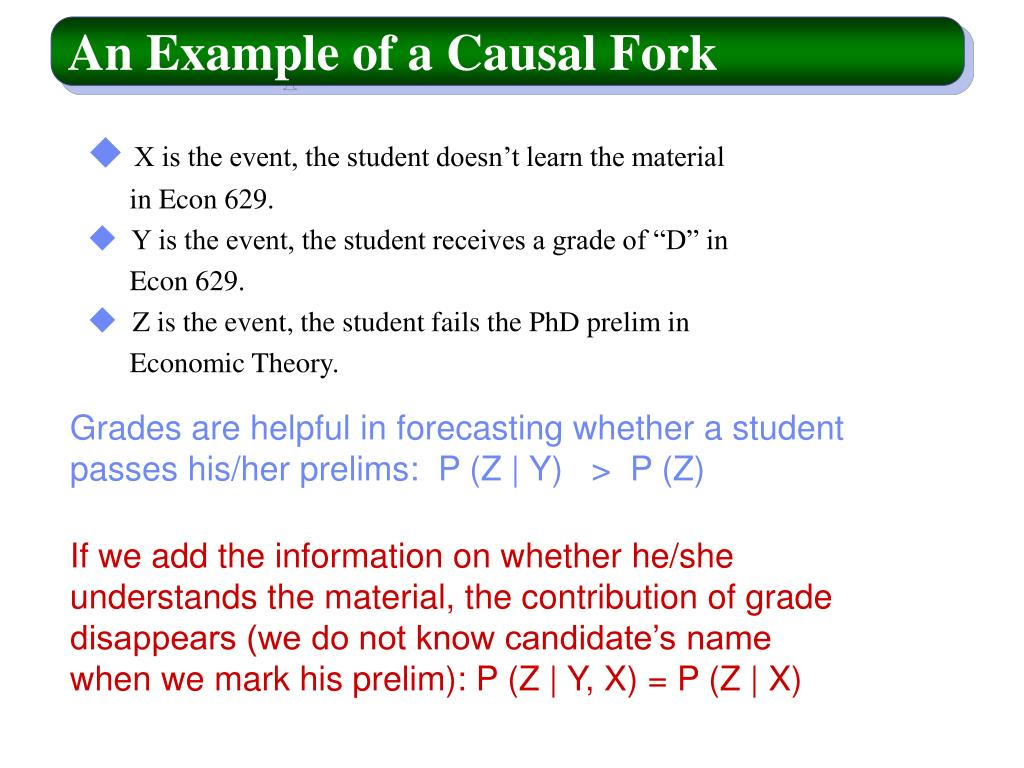 An Example of a Causal Fork