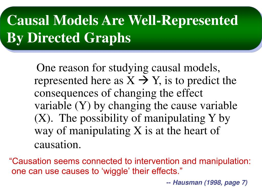 Causal Models Are Well-Represented By Directed Graphs
