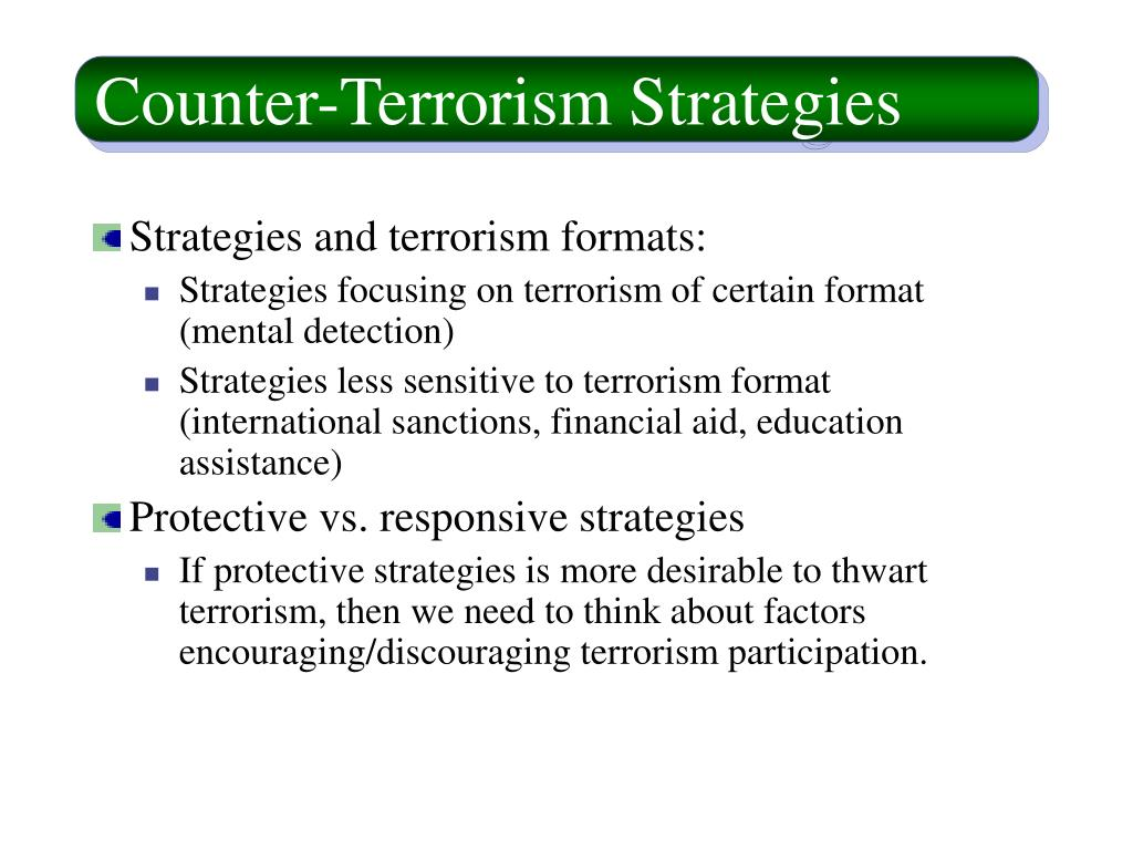 Counter-Terrorism Strategies