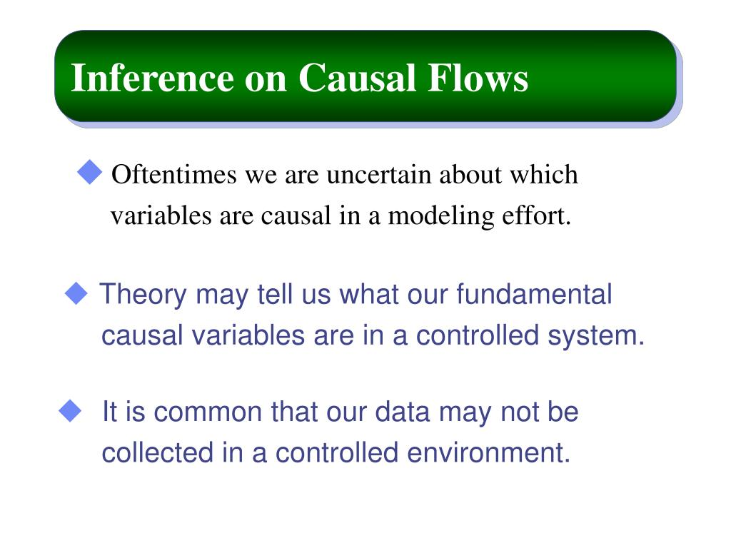 Inference on Causal Flows