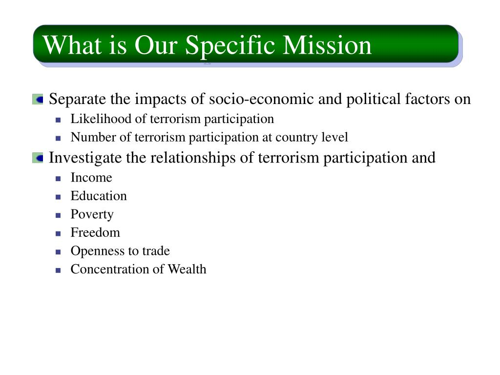 What is Our Specific Mission