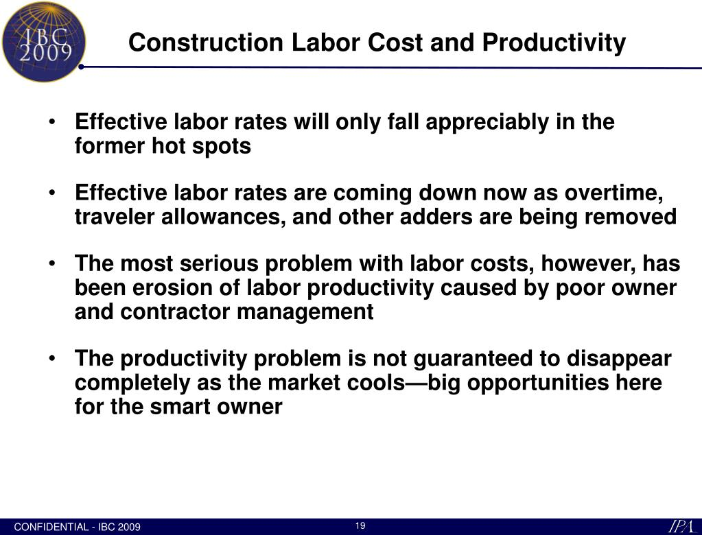 Construction Labor Cost and Productivity