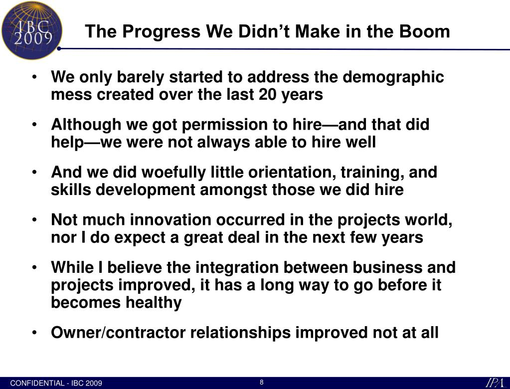 The Progress We Didn't Make in the Boom