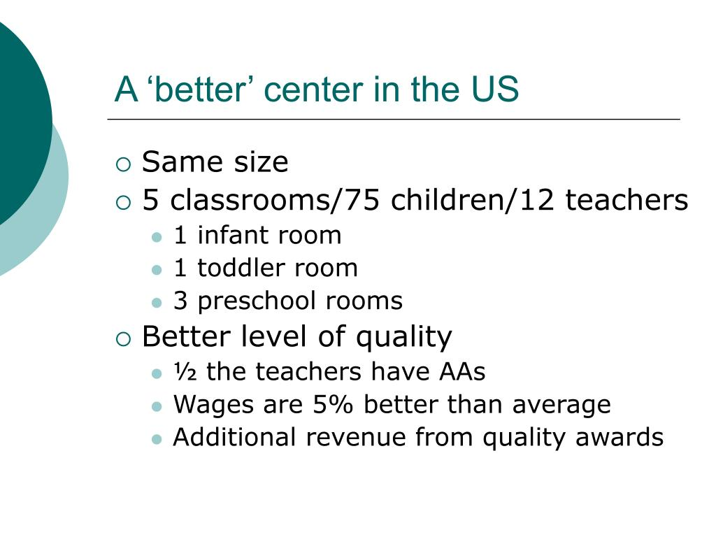 A 'better' center in the US