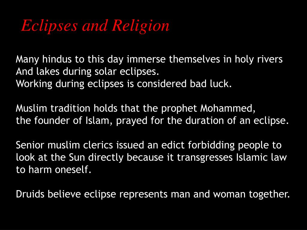 Eclipses and Religion
