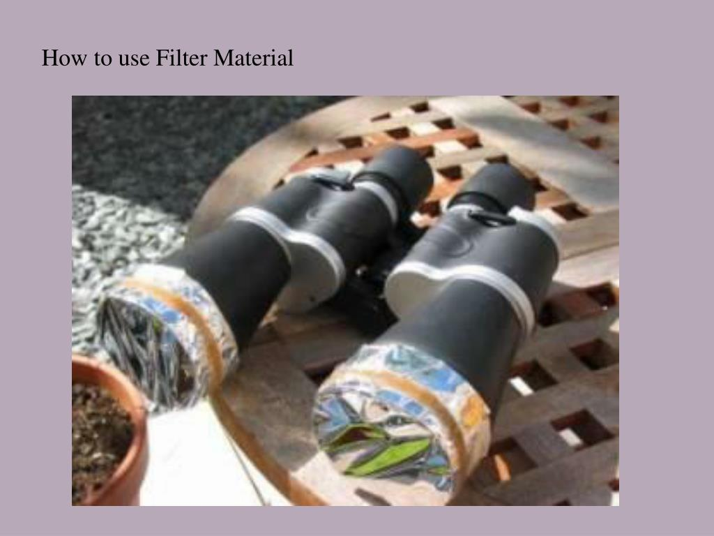 How to use Filter Material