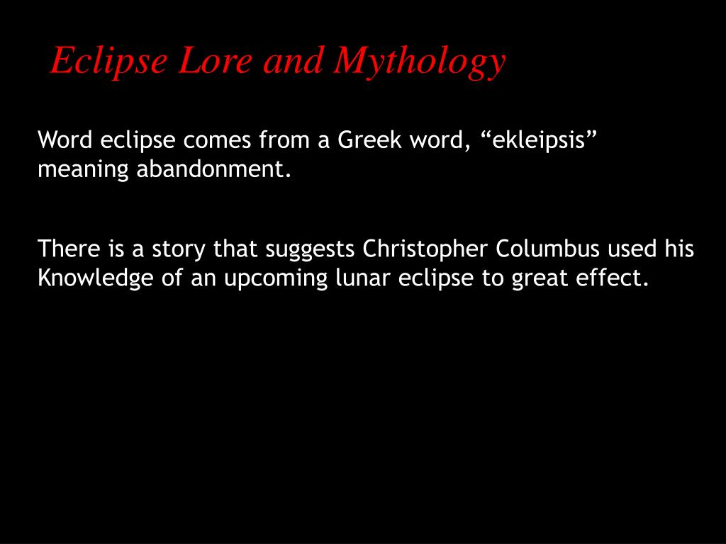 Eclipse Lore and Mythology