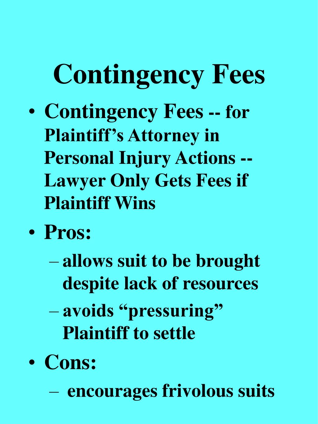 Contingency Fees