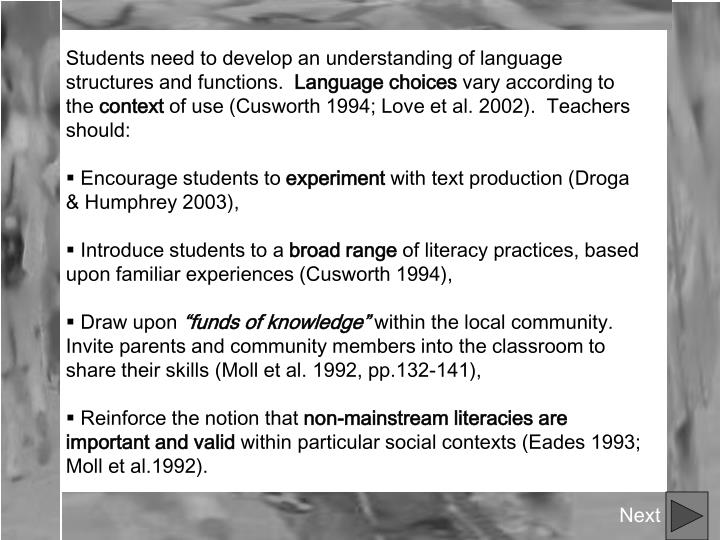 'socio cultural' approaches to language literacy and A holistic and socio-cultural approach to english literacy development this article presents pen pal writing as an authentic language learning strategy which promotes individualized student learning and engagement.