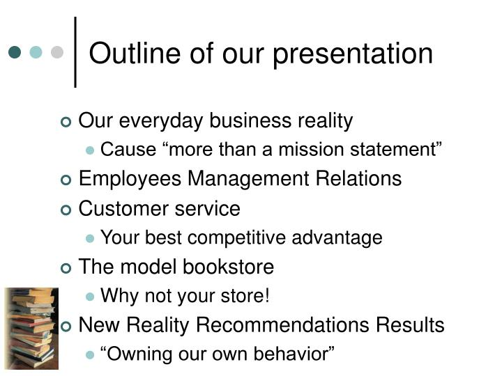 Outline of our presentation
