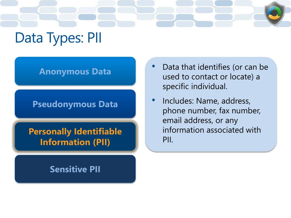 Data Types: PII