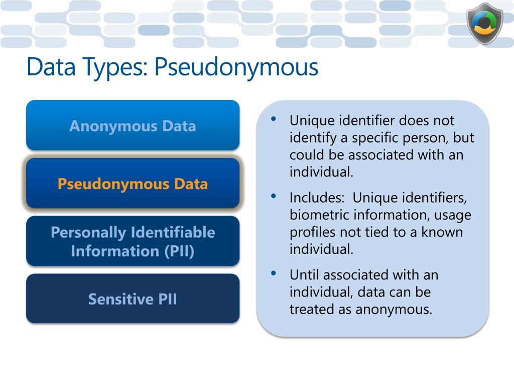 Data Types: Pseudonymous