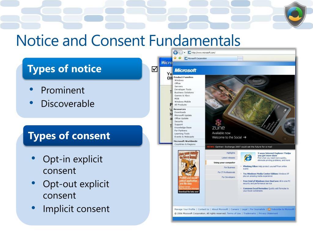Notice and Consent Fundamentals