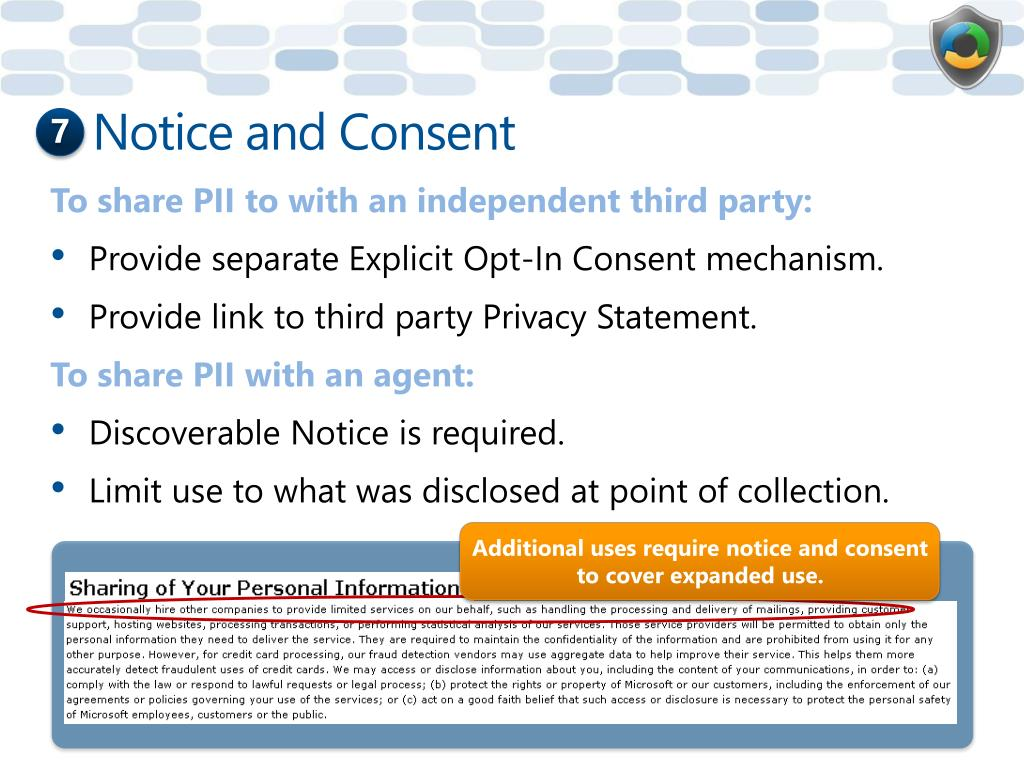 Notice and Consent