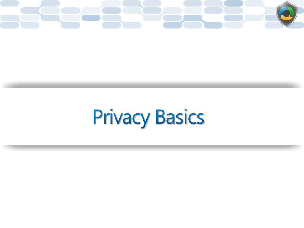 Privacy Basics