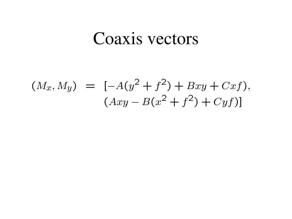 Coaxis vectors