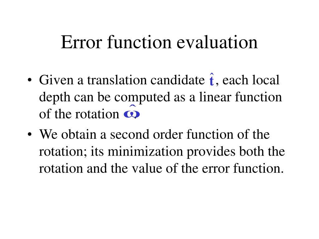 Error function evaluation