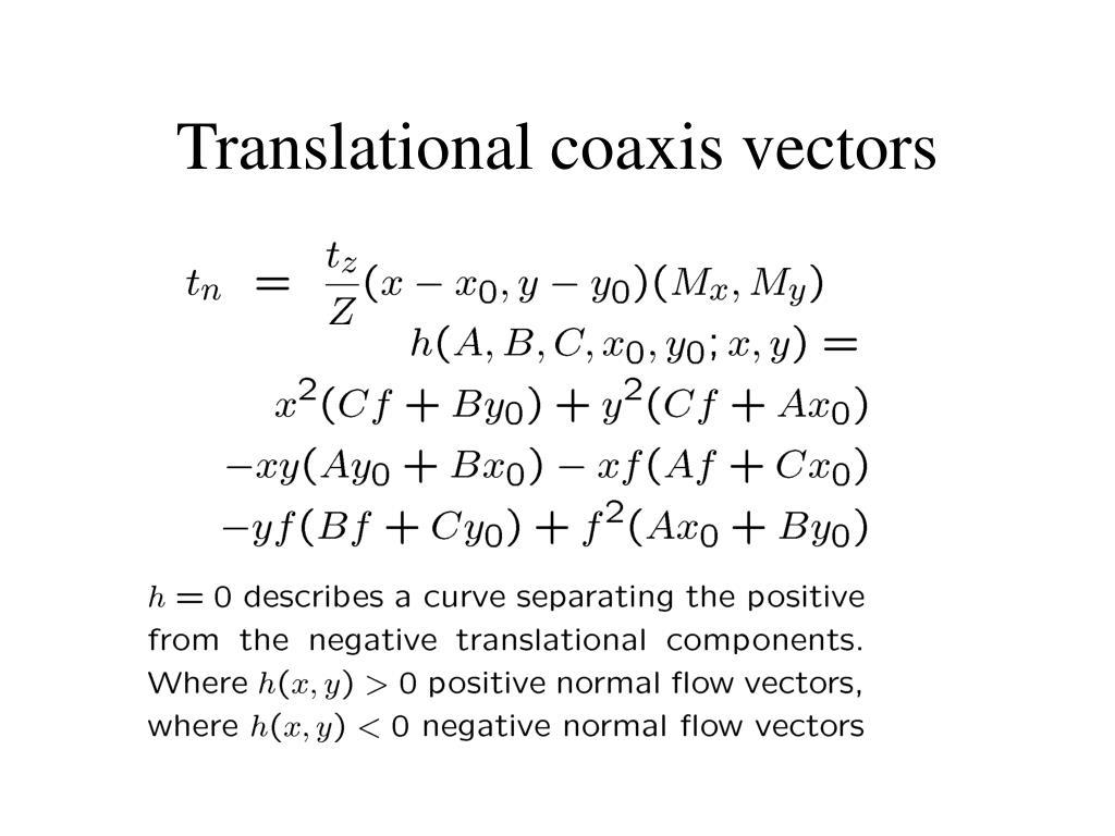 Translational coaxis vectors