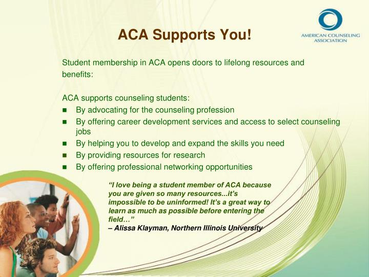 Aca supports you