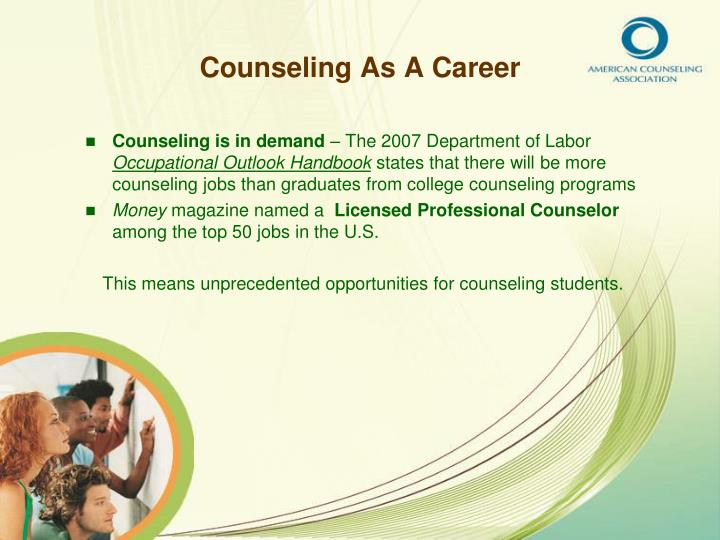 Counseling as a career