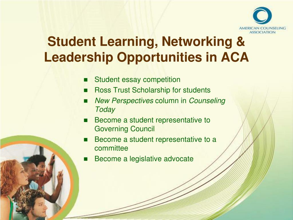 Student Learning, Networking & Leadership Opportunities in ACA