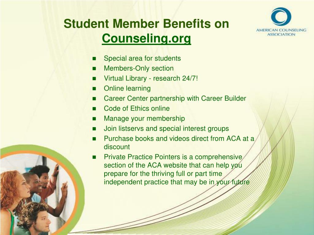 Student Member Benefits on